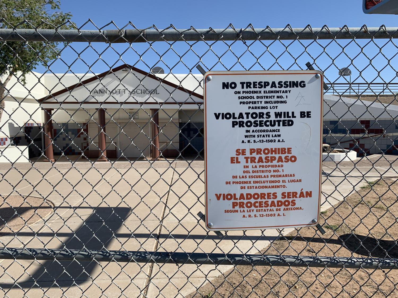 Ann Ott School migrant shelter Phoenix