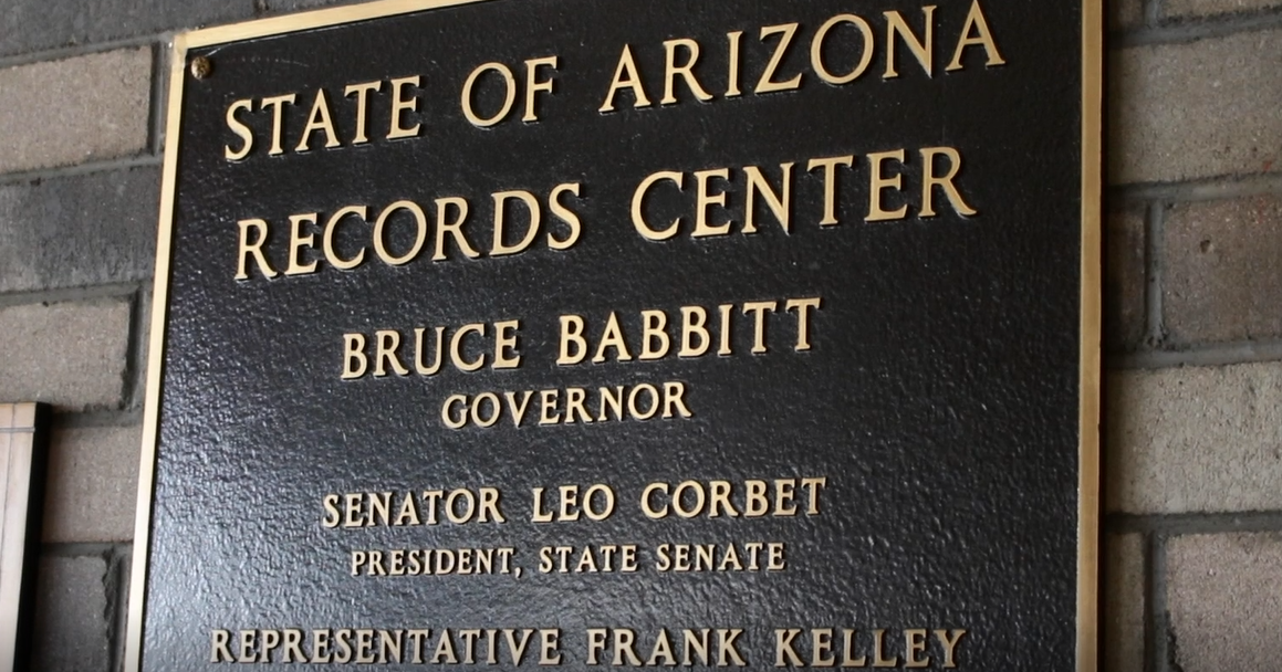 arizona state records plaque