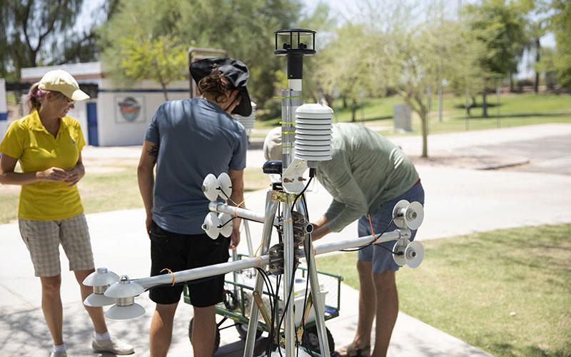 ASU MaRTy team measuring shade