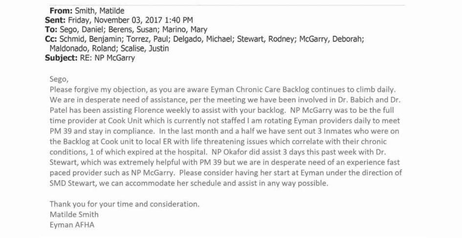 Backlog e-mail