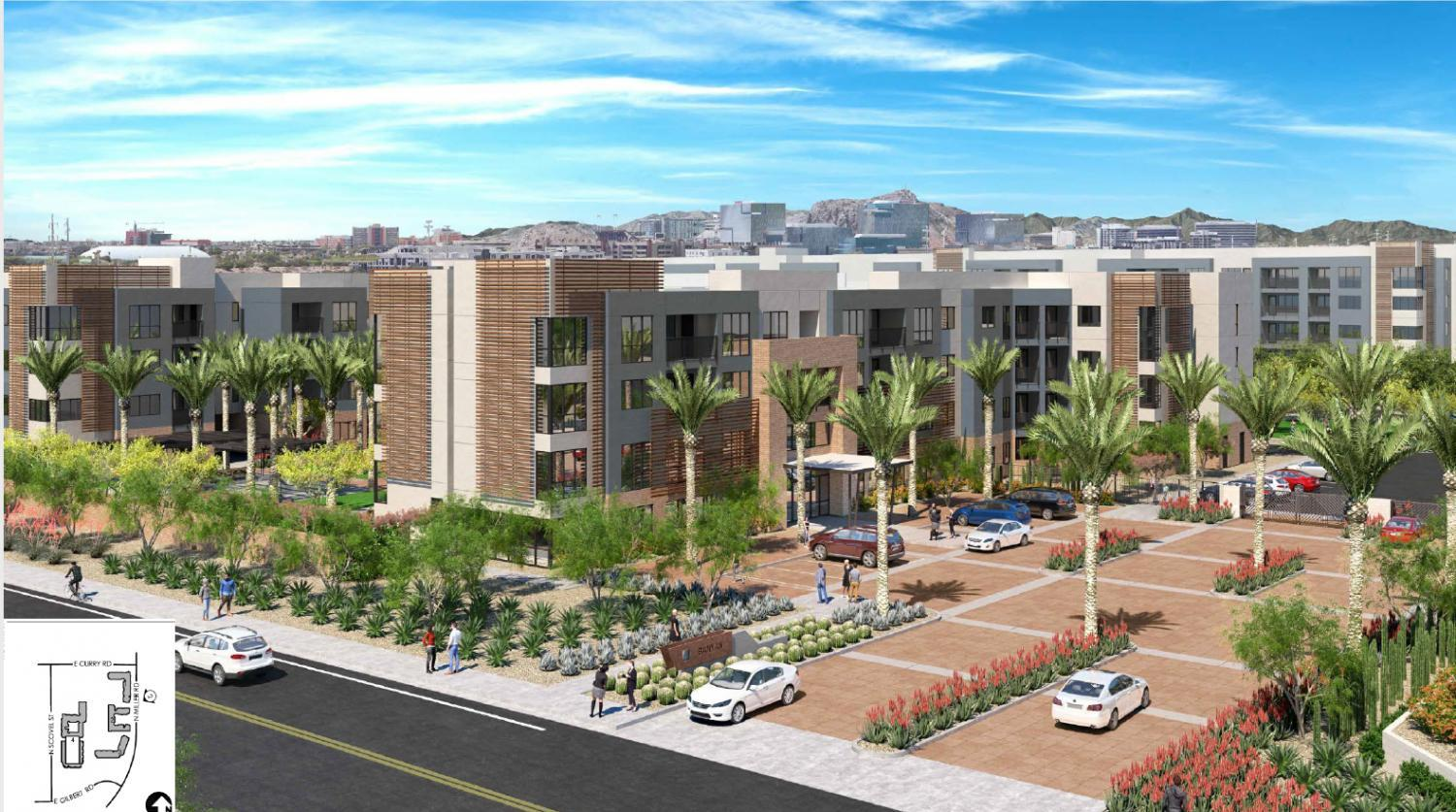 rendering of 650 new apartment units