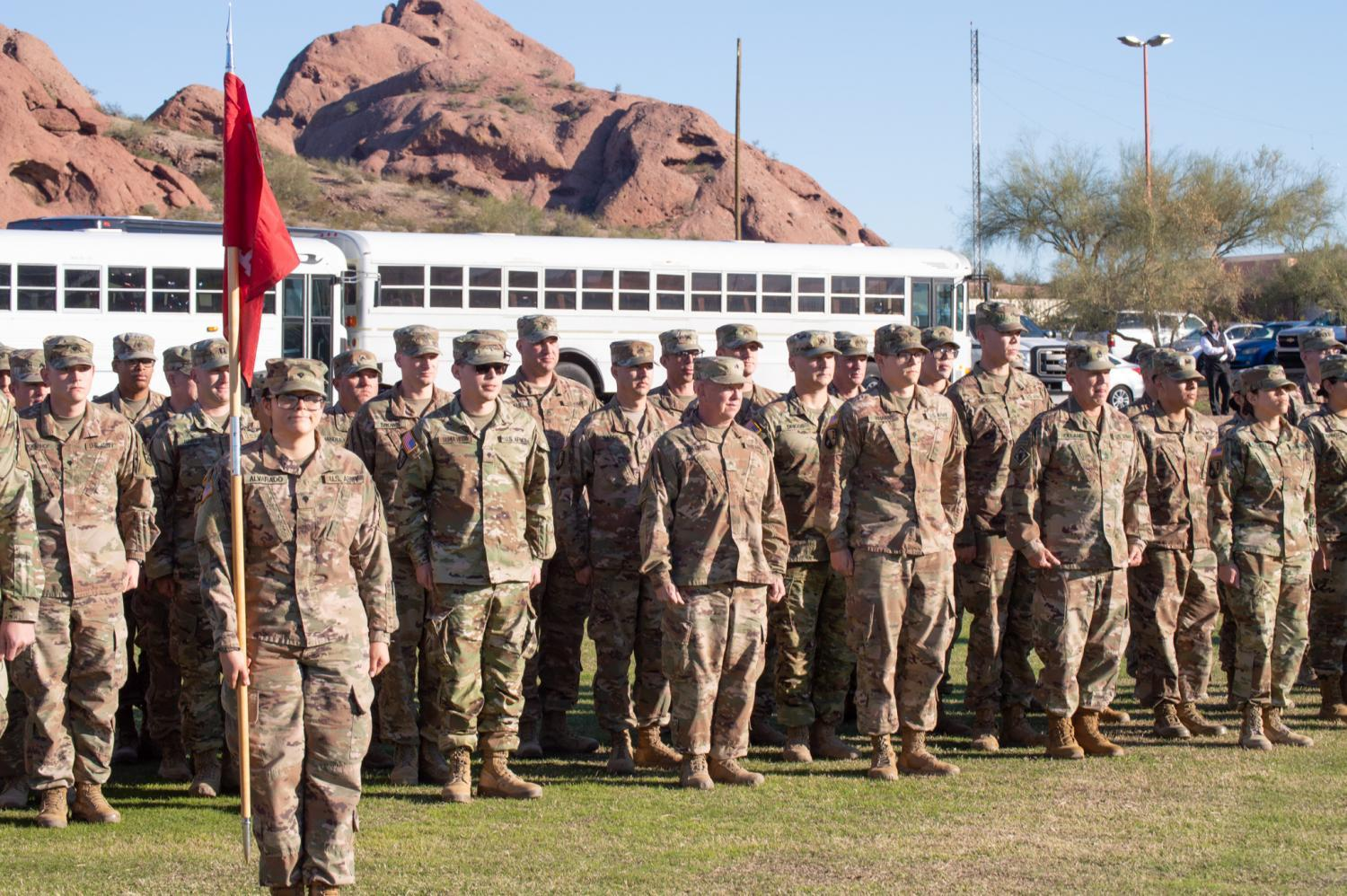Soldiers from the Arizona National Guard