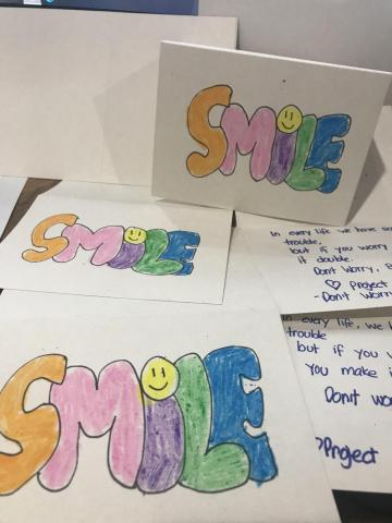 12-year-old Pravneet Chadha and 15-year-old Hurshneet Chadha started Project Smile to bring cheer to COVID-19 patients. They send uplifting greeting cards to hospitals all over the Valley.