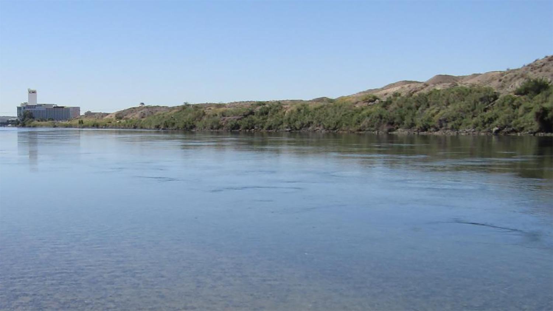 Colorado River near the Davis Dam