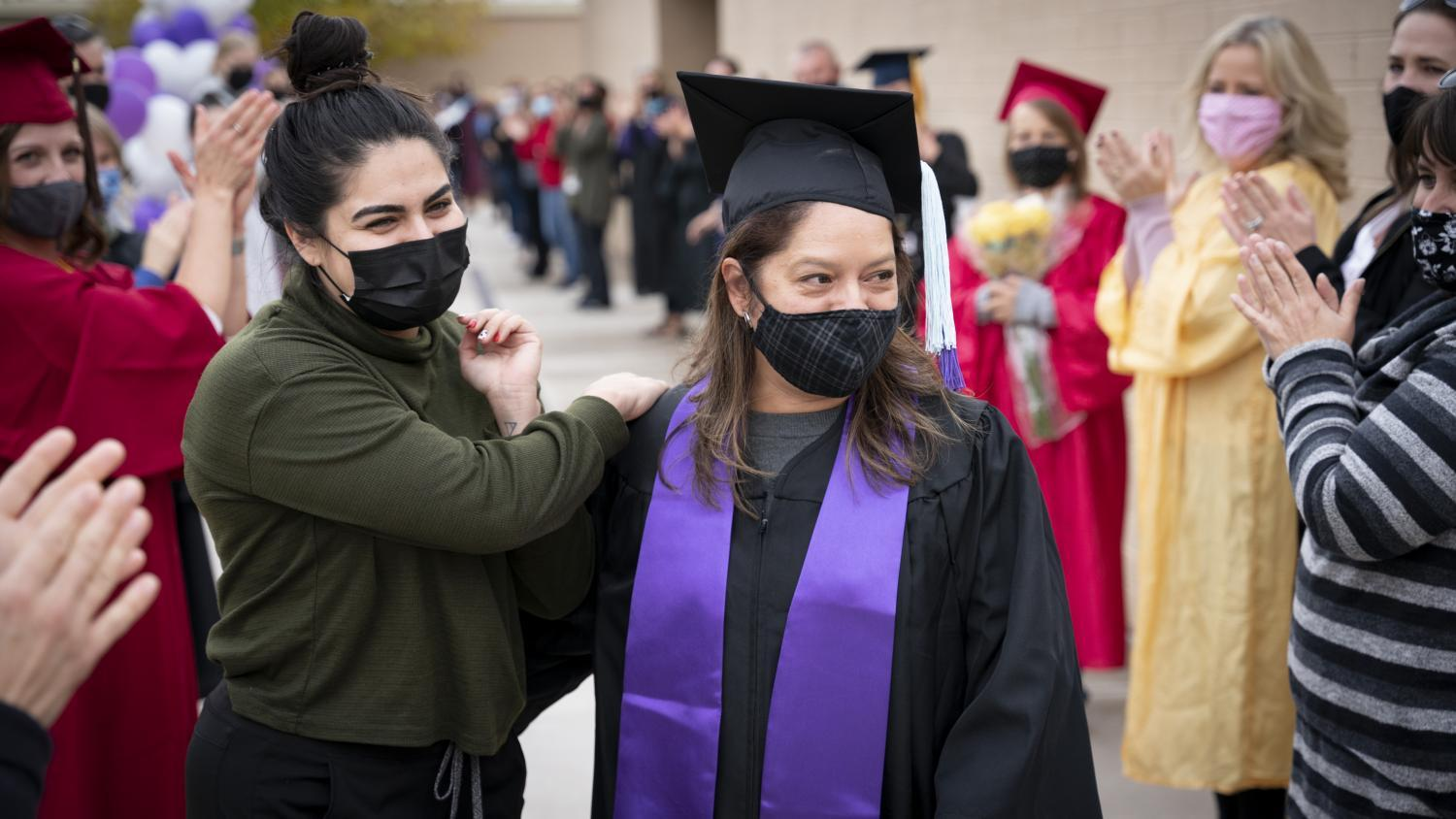 After student teacher, Caludia Vasquez had her graduation from GCU canceled, the staff of Desert Valley Elementary School decided to throw her a surprise ceremony.