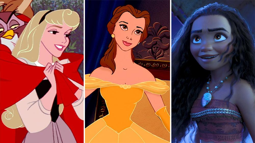 Disney Princesses Aurora Belle and Moana
