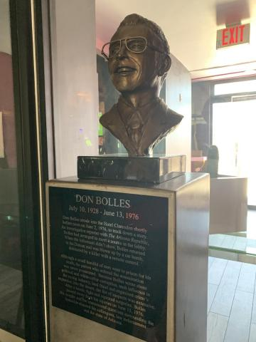The bust of Don Bolles