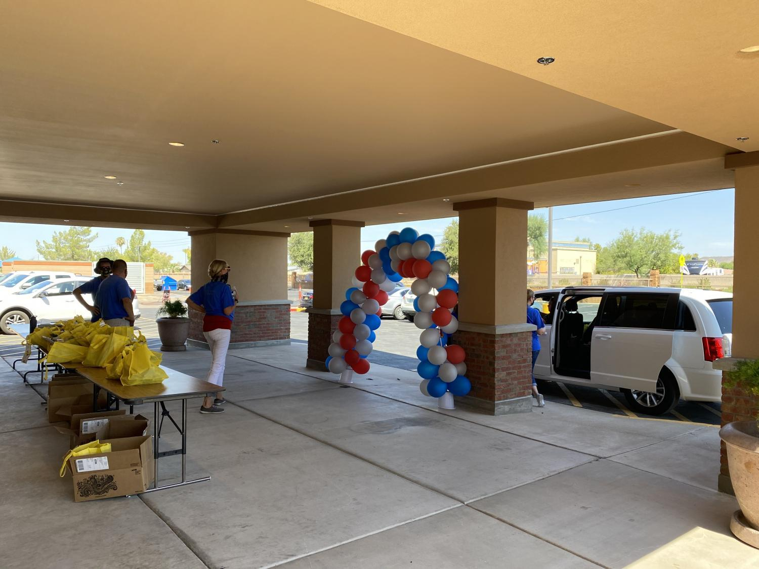 """The Traditional Academy at Bellair hosted a drive-through version of its """"meet the teacher"""" event on Friday, July 31, 2020."""