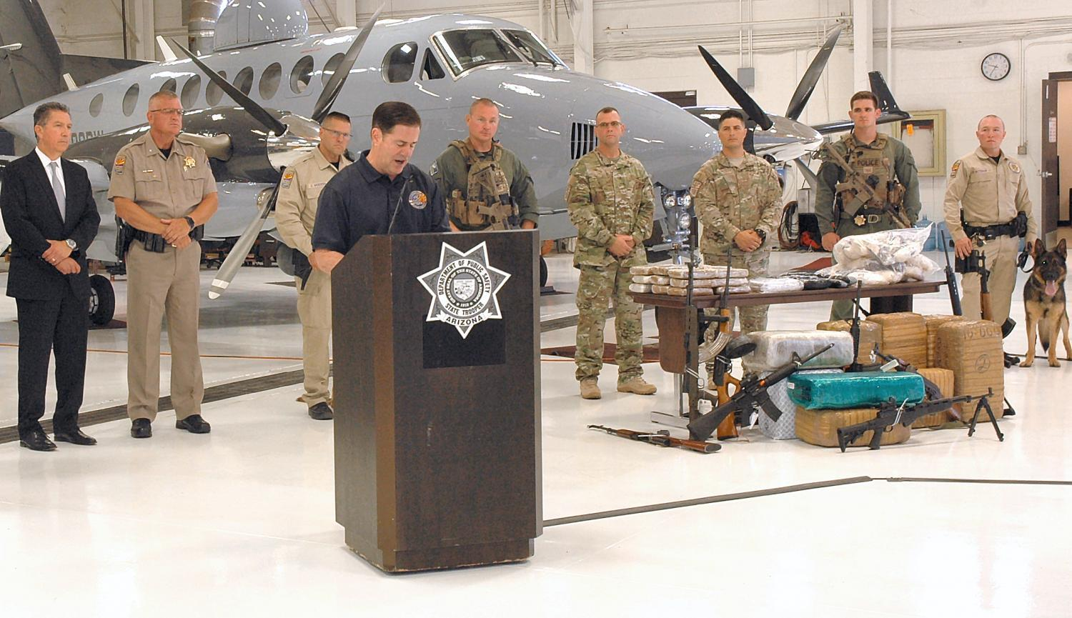 Ducey at border strike force press conference
