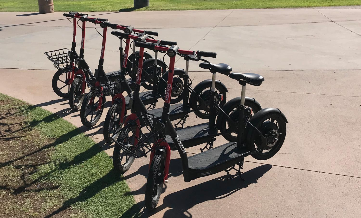 Scooters at Tempe Beach Park