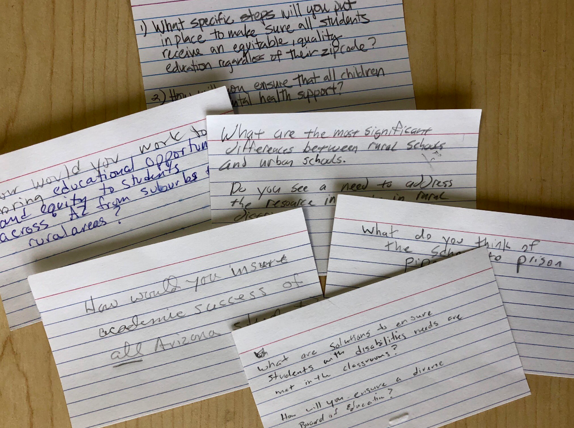question note cards