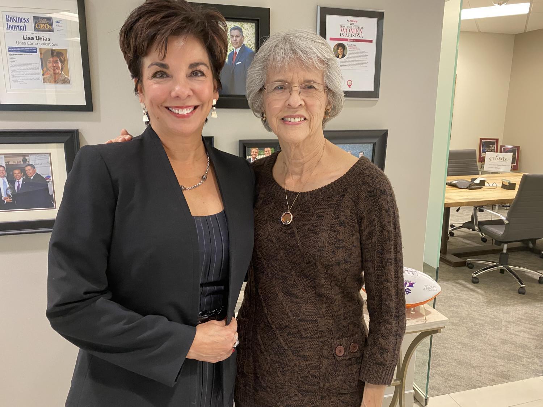 Lisa Urias and Sally Feight