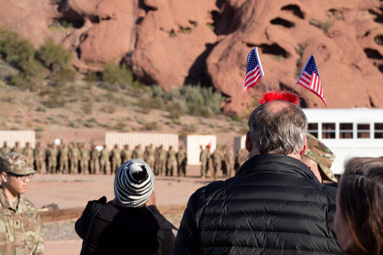 Families and friends of soldiers in the Arizona National Guard