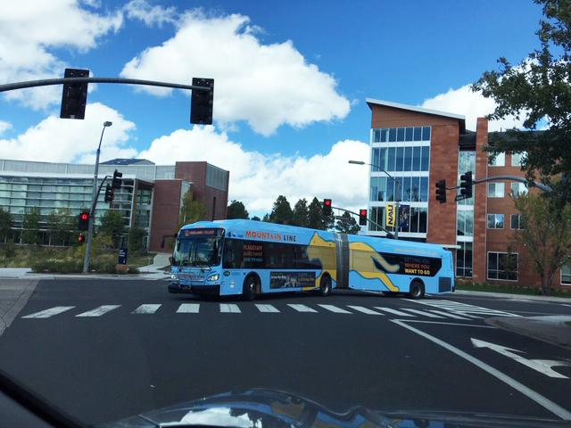 A bus in Flagstaff.