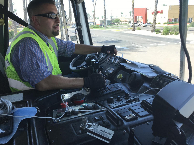 Republic Services driver Gabriel Ibarra