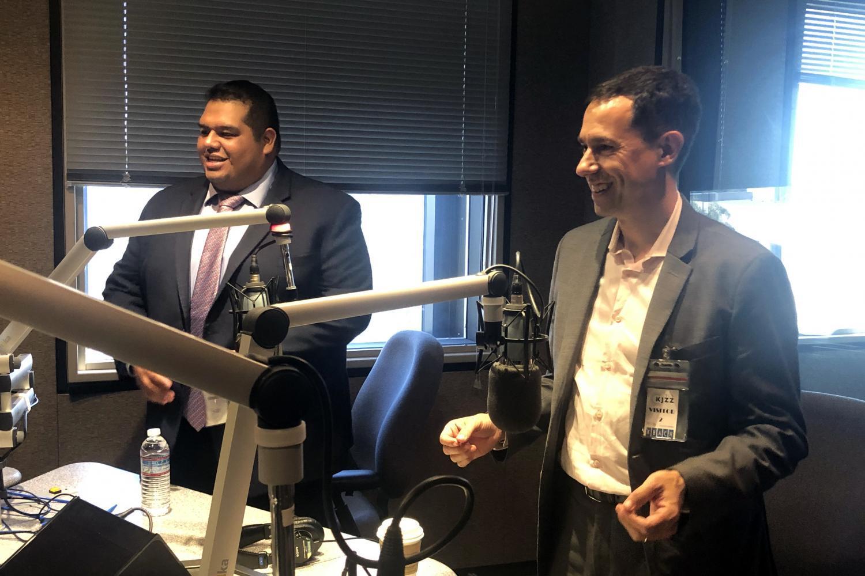 Cesar Chavez (left) and Glenn Hamer