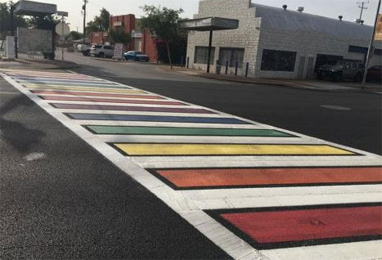 rainbow crosswalk