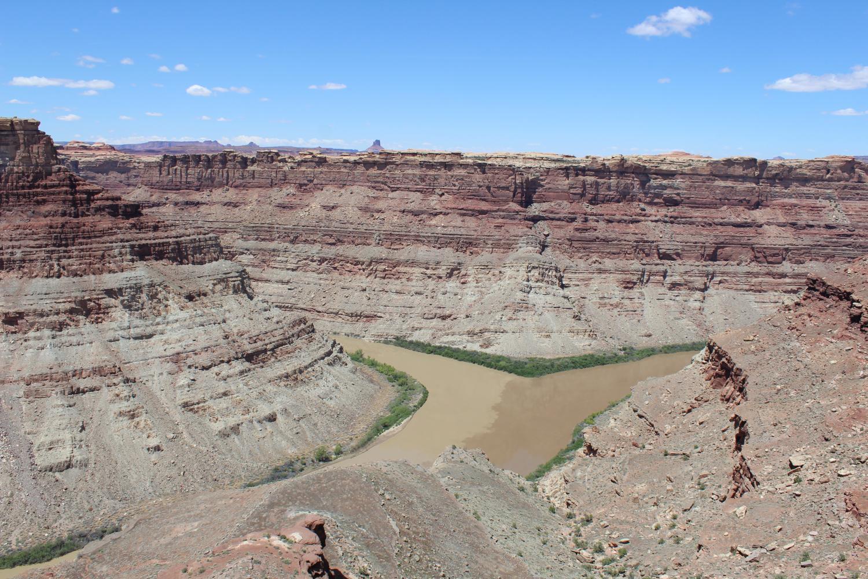 The Green and Colorado Rivers meet at Canyonlands National Park in Utah.