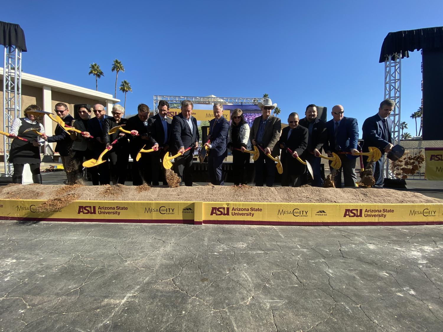 Groundbreaking for ASU @ Mesa City Center, a new academic building that brings the university to downtown Mesa.
