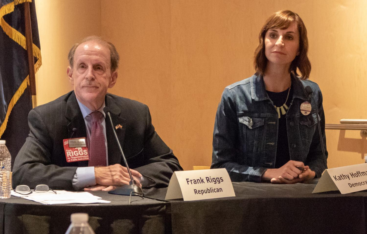 Frank Riggs and Kathy Hoffman