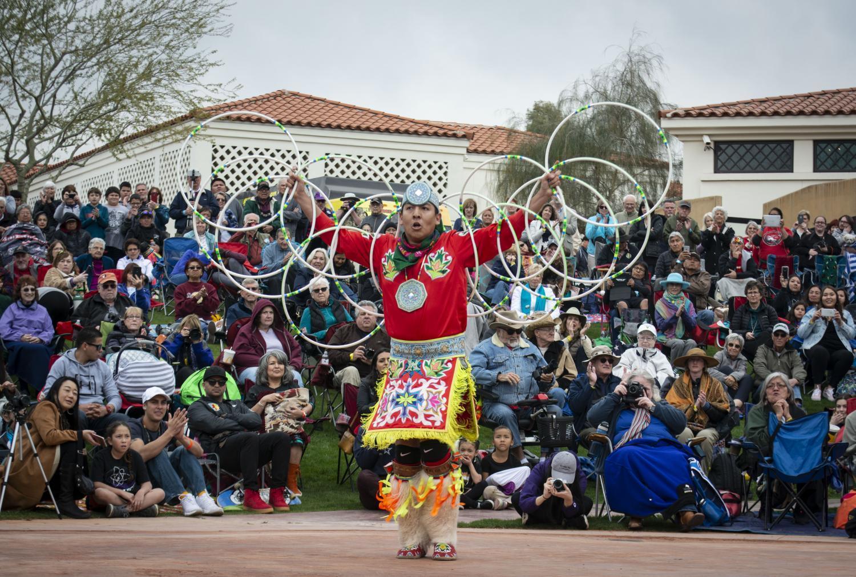 Native American hoop dancer