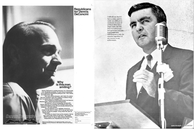 Dennis Deconcini and Sam Steiger ads