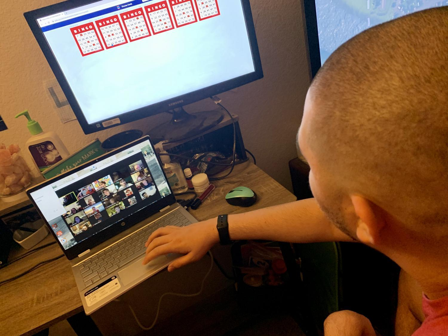 Jordan Wright has grown more computer savvy while learning from home, due to the pandemic.