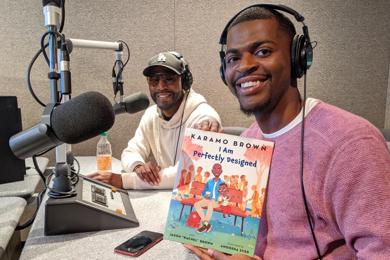 "Karamo Brown (left) with his son Jason ""Rachel"" Brown."