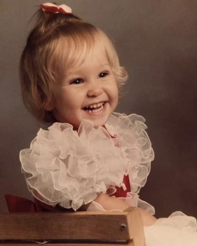 Katie Campbell as a toddler