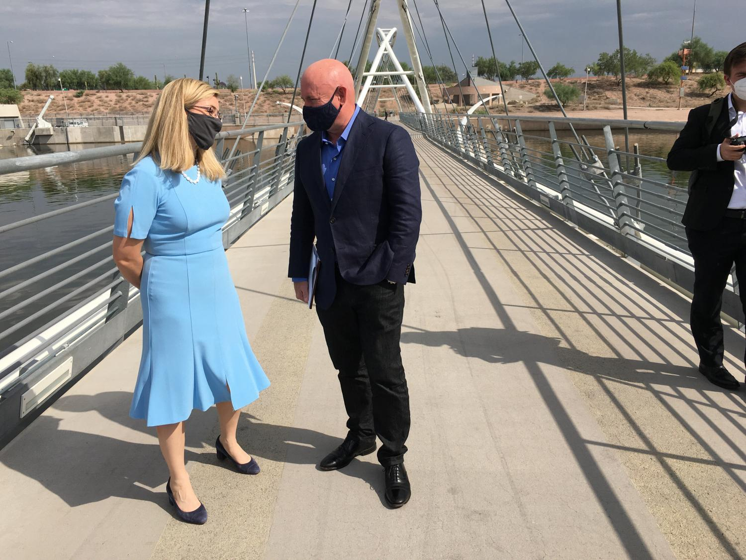 Kate Gallego and Mark Kelly