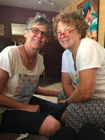 Laurie Provost (left) and her partner of 13 years, Kris Kollach