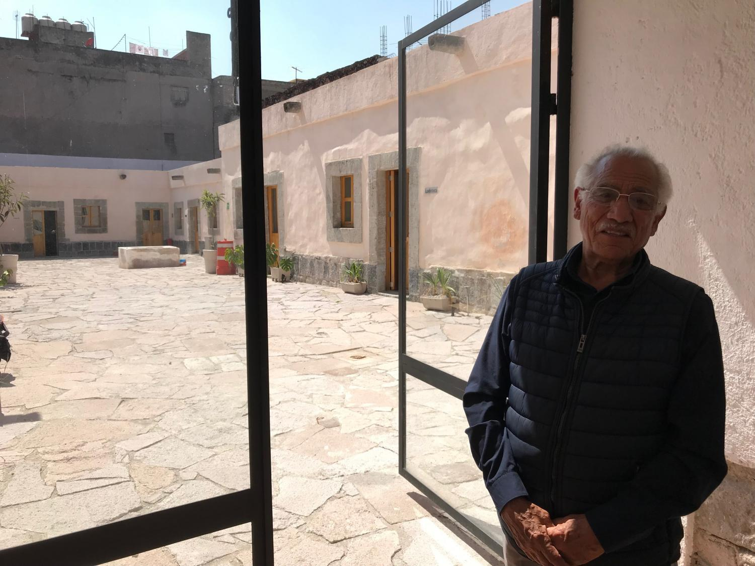 Florentino Canales Vargas, 80, was born in a room where he grew up on Manzanares 25.