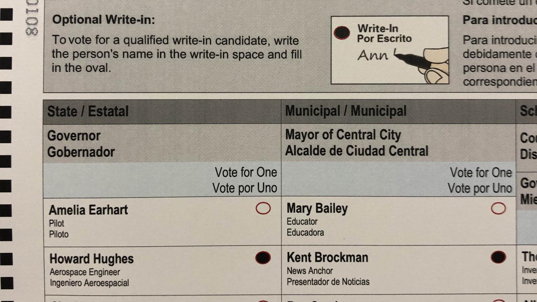 new Maricopa County ballot