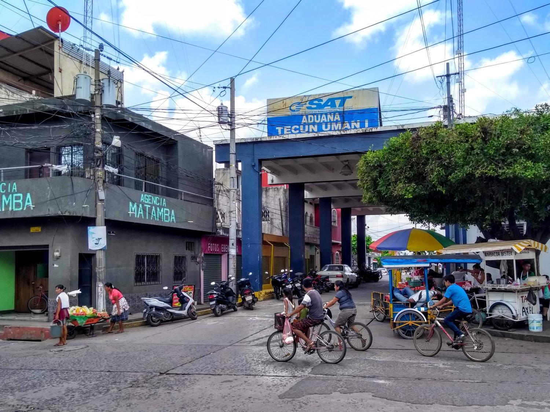 The customs office in Tecún Umán, Guatemala