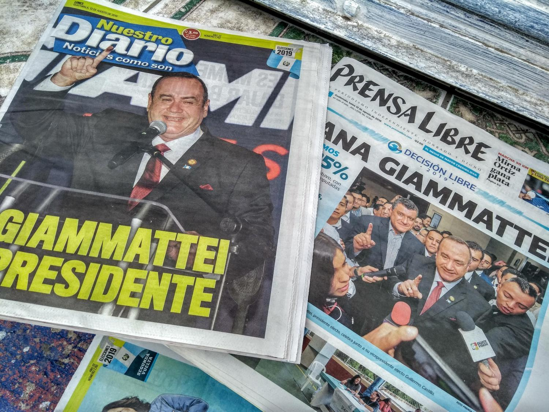 Guatemalan press announces the victory of Alejandro Giammattei
