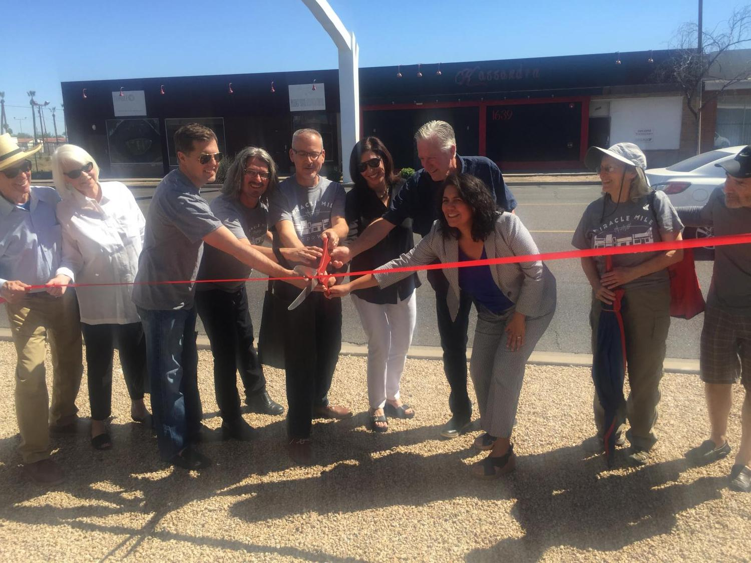 Community leaders cut ribbon for rededication of McDowell Gateway Arch
