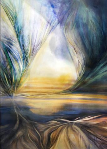 Artist Laura Thurbon captures the colors of the monsoon