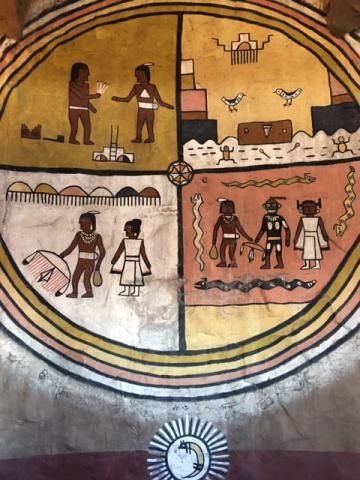 Hopi mural inside Desert View Watchtower