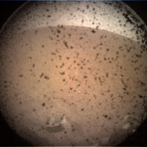 first image of mars from insight lander