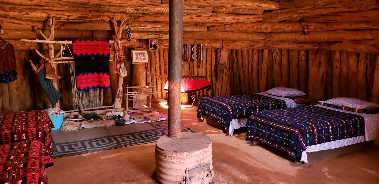 A Navajo hogan for rent on Airbnb.