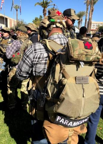 Second Amendment activists march on the State Capitol, Saturday, Feb. 15, 2020.