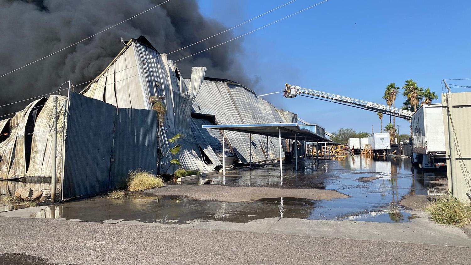 a fire at multiple Phoenix recycling yards
