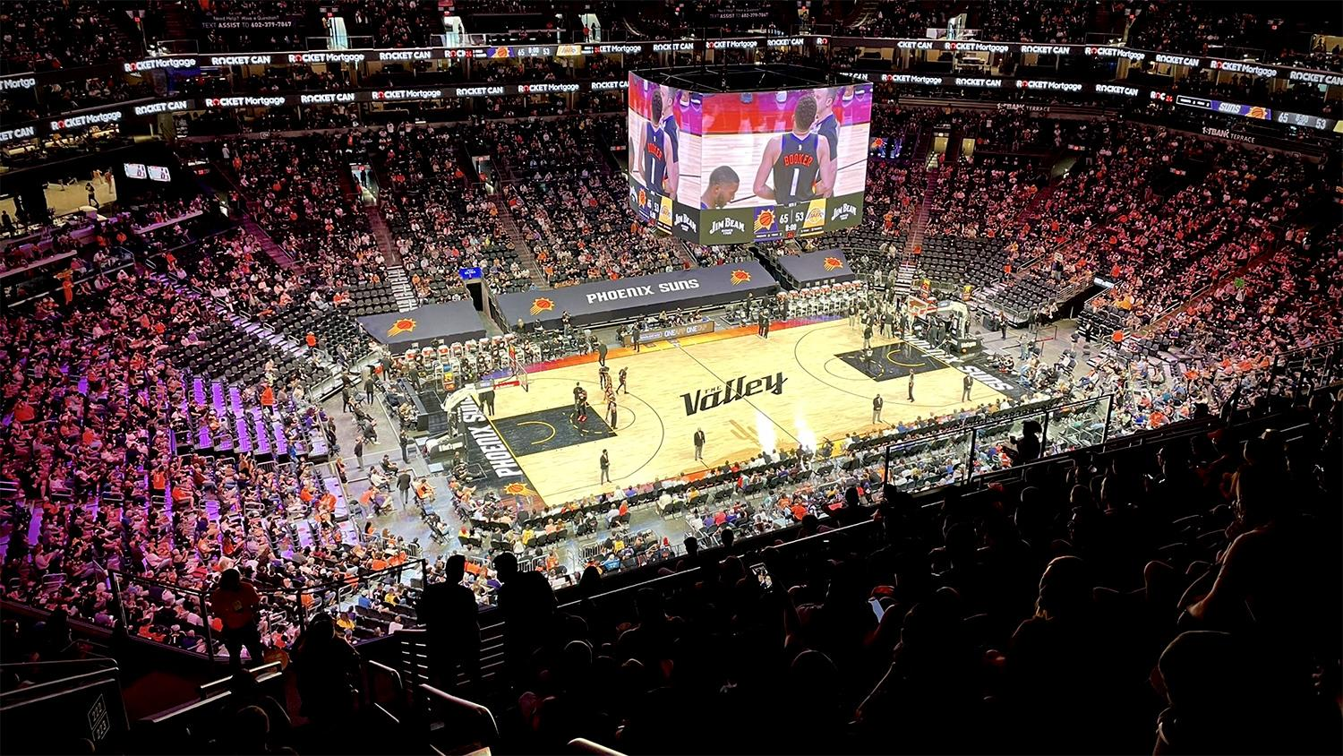 Phoenix Suns Arena The Valley court