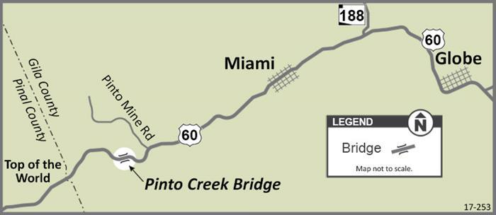 pinto creek bridge map