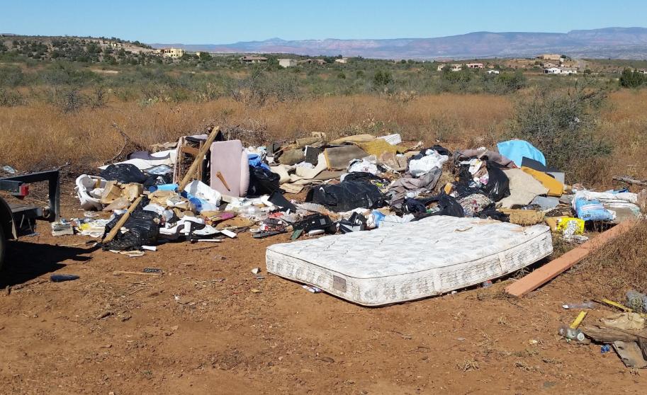 8,500 pounds of trash