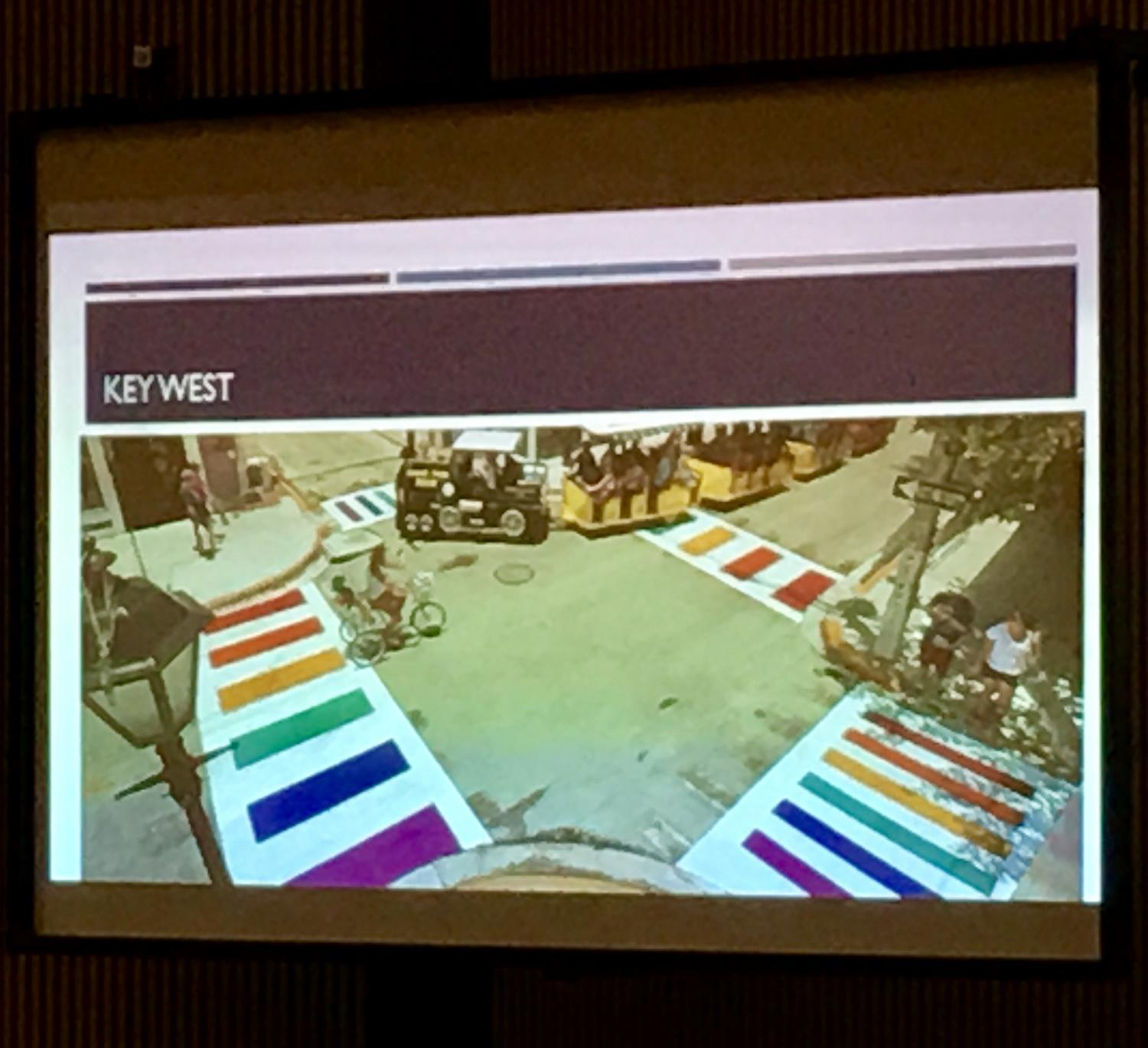 Rainbow crosswalks examples