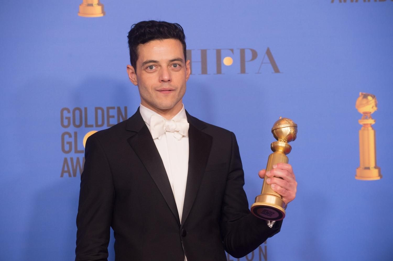 rami malek at the golden globes