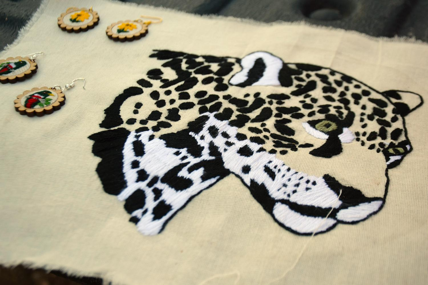 Jaguar embroidery