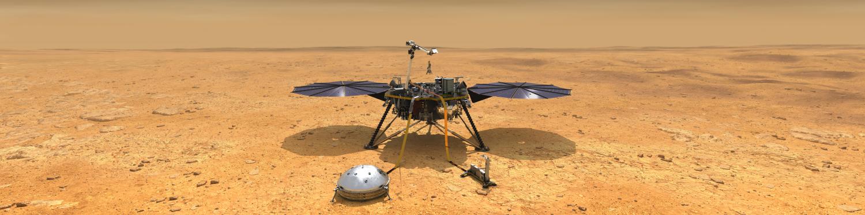 artists concept of nasa insight lander on mars