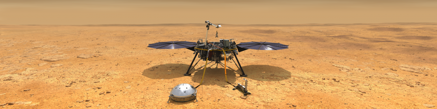 artists concept of nasa insight lander on mars